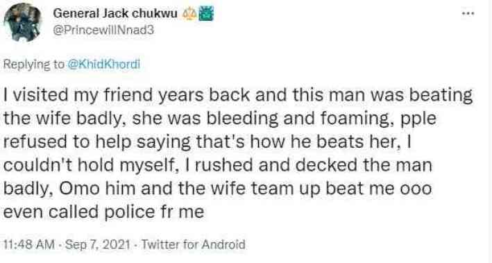 Beaten Husband Wife Fight Twitter