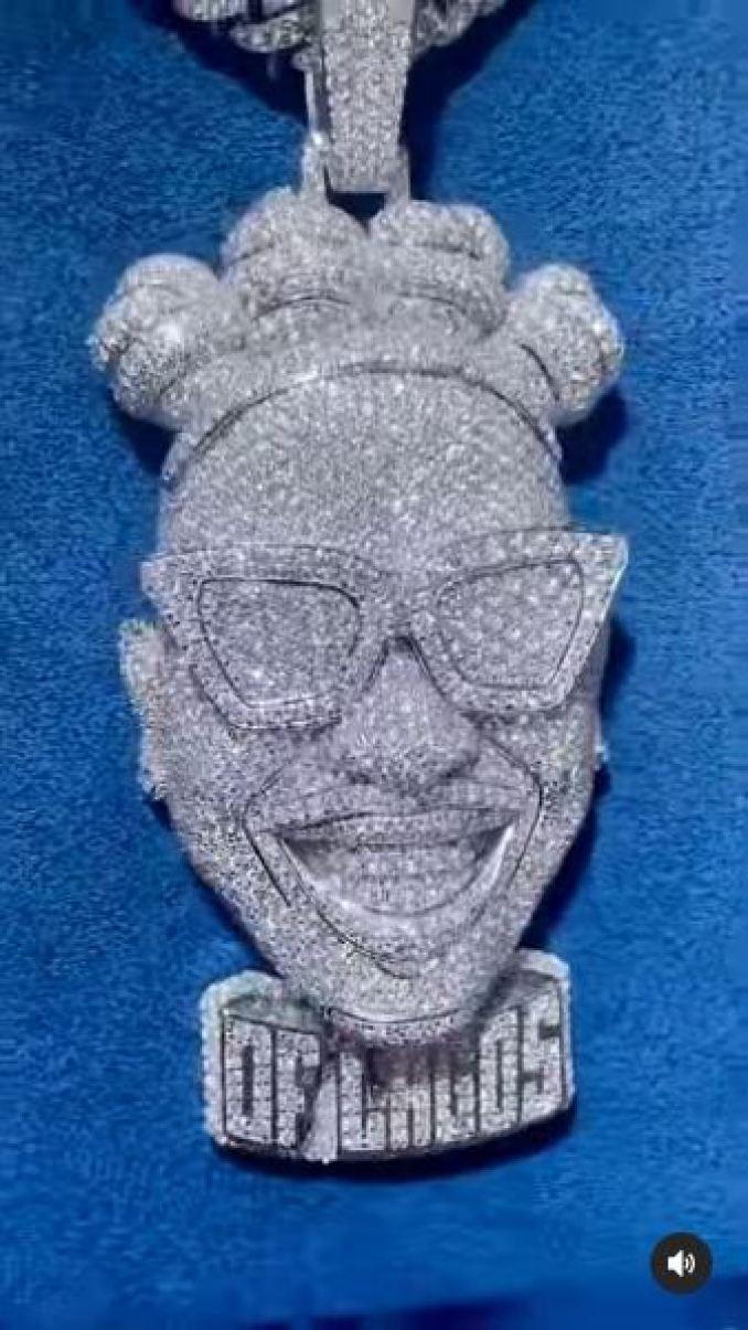 Mayorkun Diamond Pendant Millions