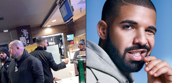 Drake gave two McDonald's employees $20,000 as tip when he stopped by for a meal