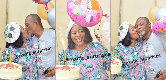 Gloria Anozie Celebrates Her 52nd Birthday With A Sensational Kiss From Hubby