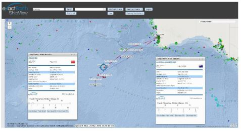 exactEarth Release Tracking Data of the Search for MH370