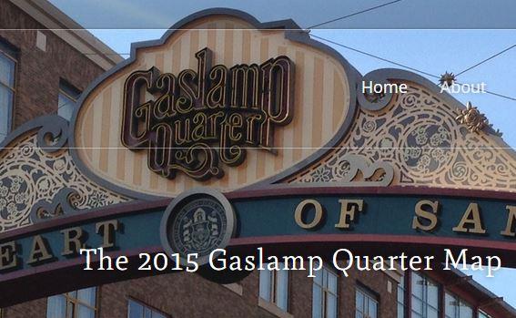 San Diego Gaslamp map