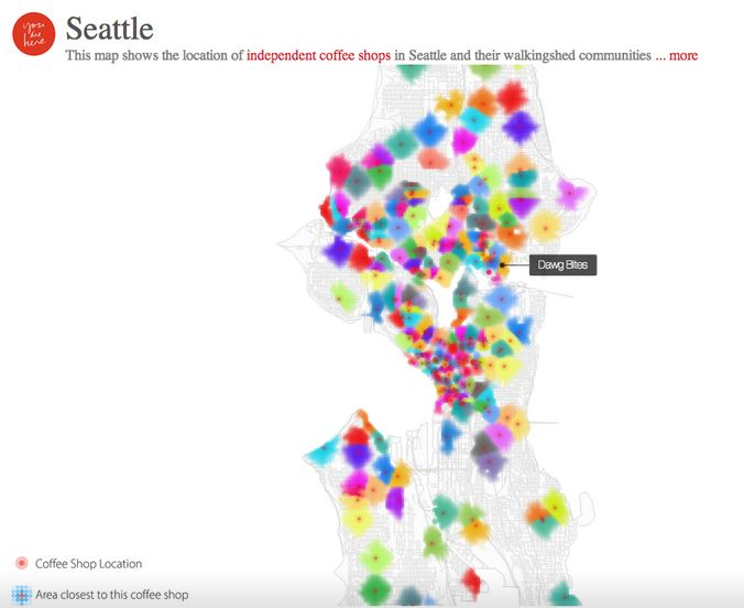 Seattle independent coffeeshop map