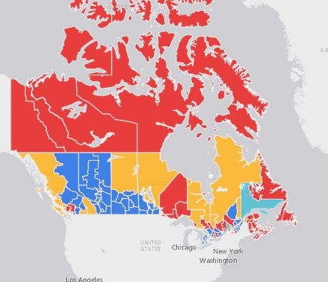 2015 Canada Federal Election Results Story Map | Anything ... on canada politician map, canada demographics, canada politics, civil war america map, canada poverty map, canada mountain ranges map, canadian electoral map, canada history, canada home, idaho electoral map, canada flight map, us canadian map, canada population density map, canada elevation map, canada political party map, canada and united states map, archives of canada in map, canada voting map, canada government map, prince edward island map,