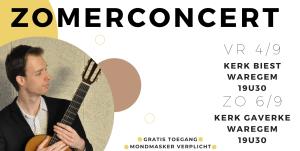 Zomerconcert Kobe Lefebvre @ Kerk Biest (Waregem) | Waregem | Vlaanderen | België
