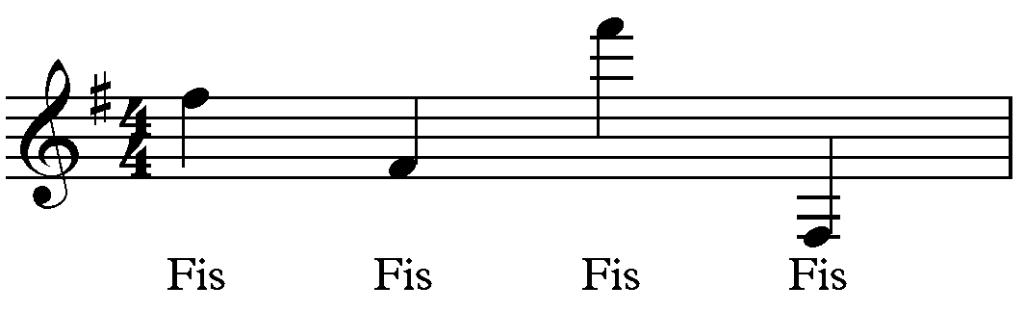 Vorzeichen-G-Dur