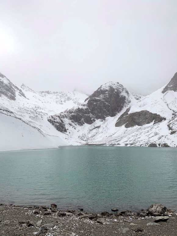 Vista frontale sul lac des beraudes