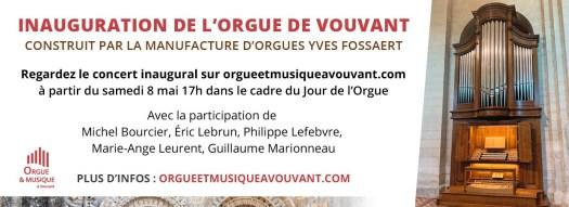 Inauguration orgue à Vouvant proche Gîtes La Bréjolière