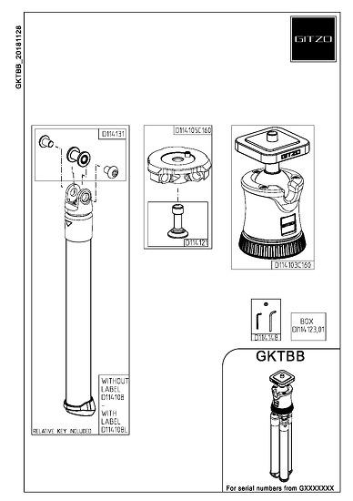 Gitzo GKTBB Spare Replacement Parts