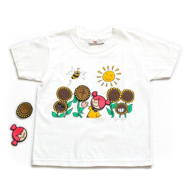 t-shirt girasoli
