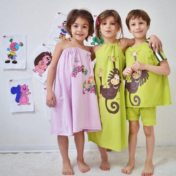 Abbigliamento coordinato mamma e figlia/o