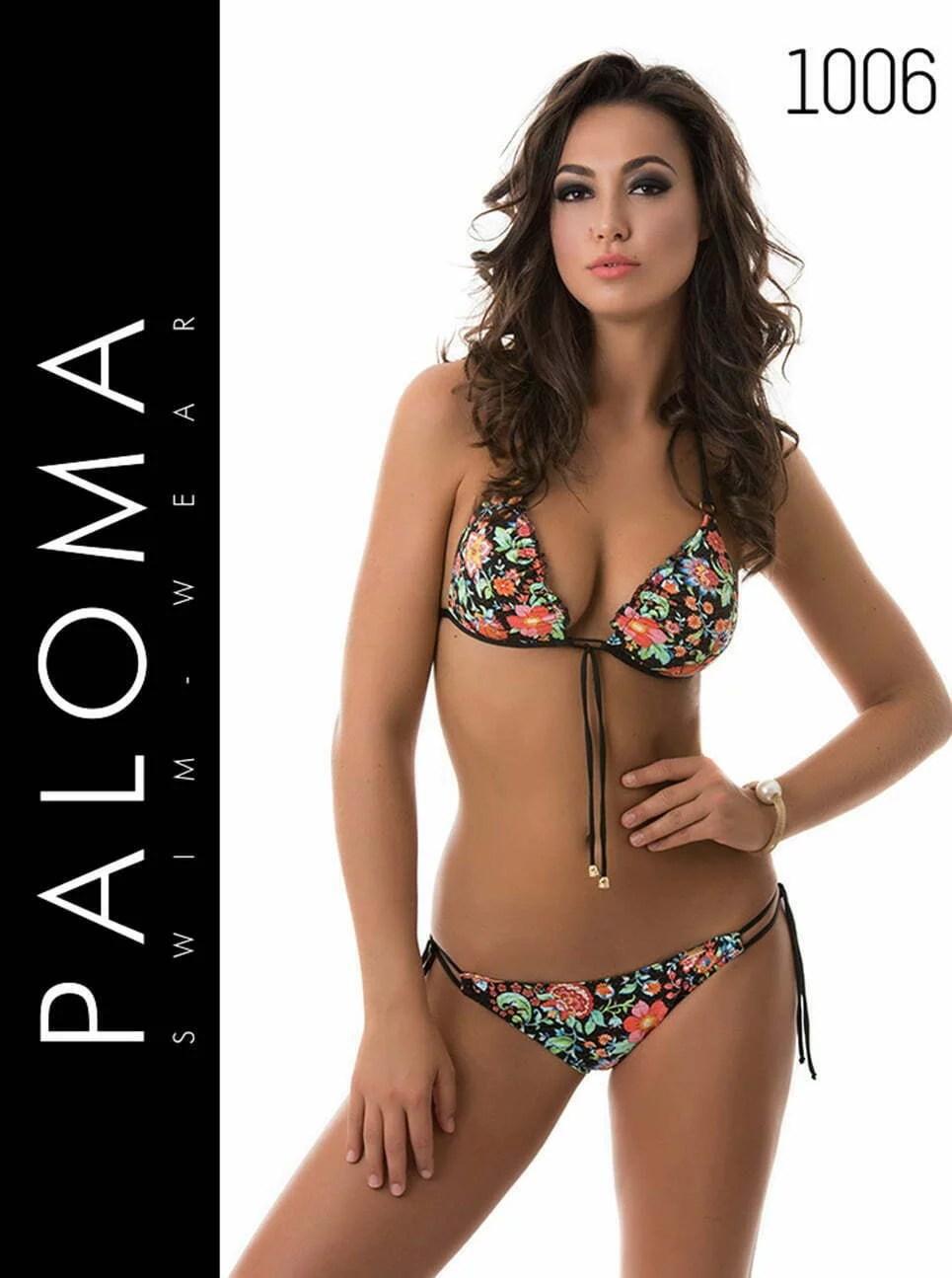 PALOMA virágmintás háromszög felsős bikini 1006