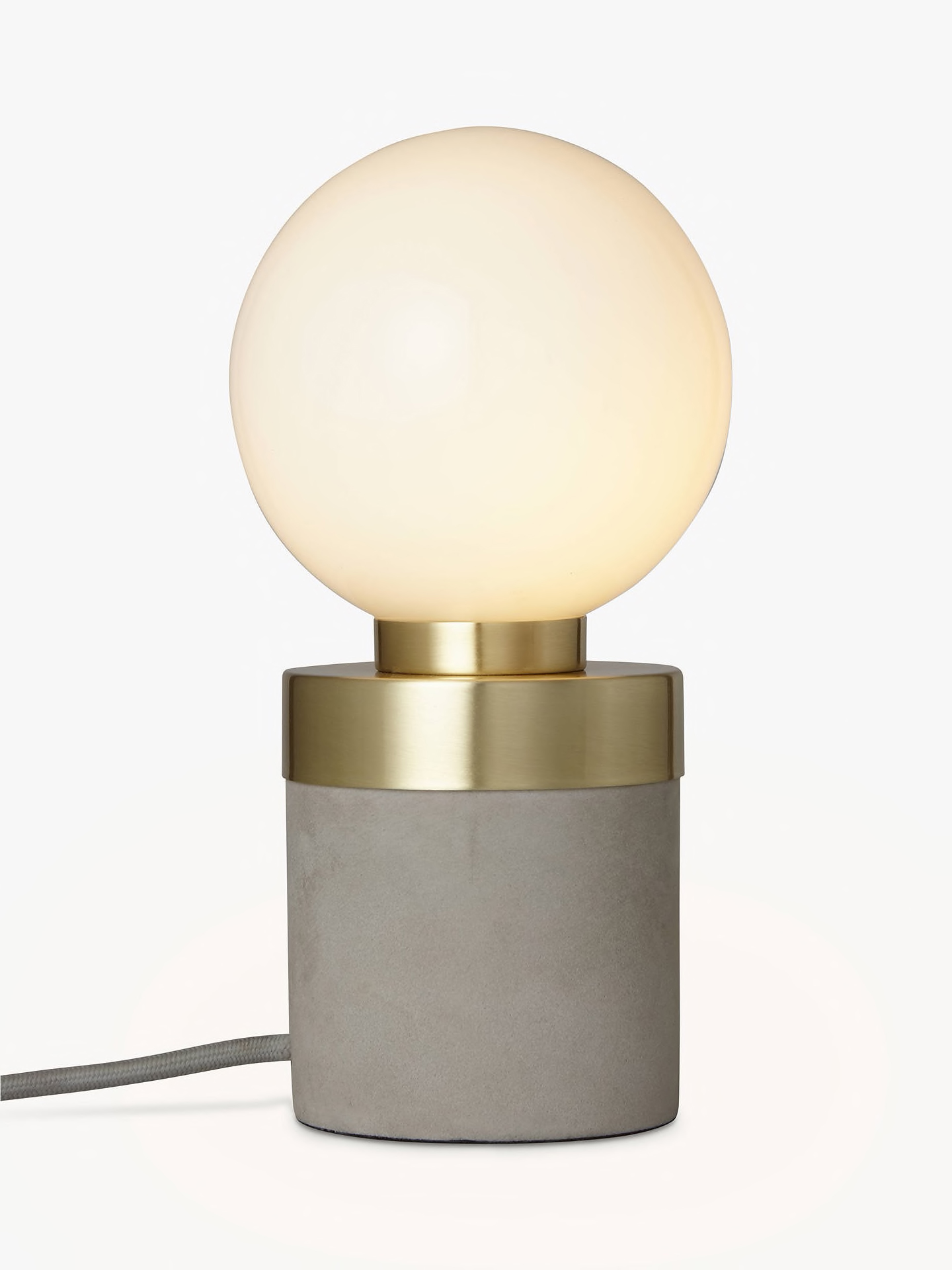 lights for elegant interiors concrete and brass table lamp