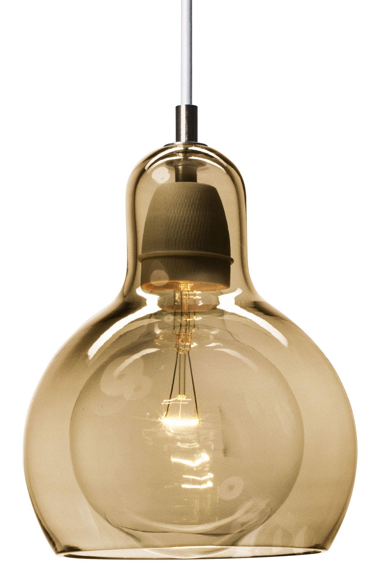 Mega Bulb gold pendant by &tradition