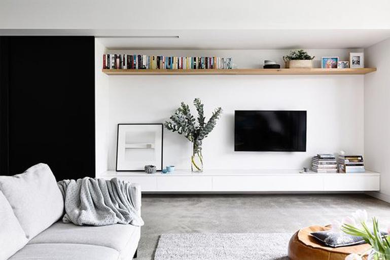 Un evergreen è quello di arredare la parete sopra il divano con una cornice. Soggiorno Come Decorare La Parete Della Televisione Giulia Grillo Architetto Art Home