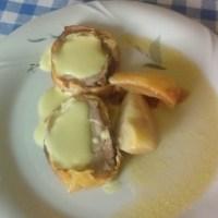 Filettino con salsa alla senape e pere