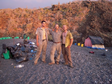 Tired but happy after a successful trip. In order from left: Dr. Giorgio Riccarducci, Dr. Gabriele Gentile and me.