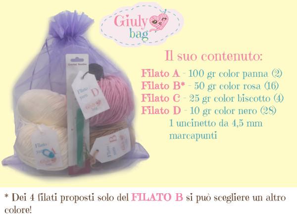contenuto Giuly Bag Pinky Gnoma
