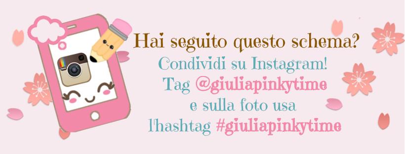 condividi la foto del tuo coniglietto squadrato amigurumi su instagram