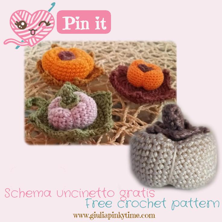 Save the small amigurumi pumpkin pattern to make it later!