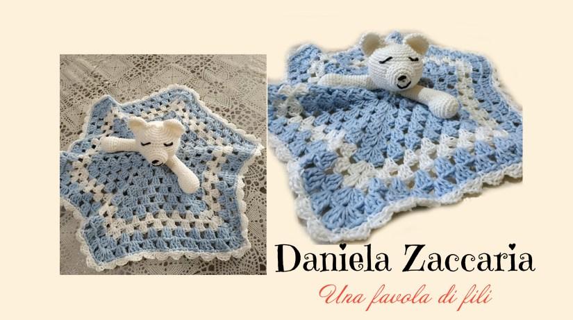 Copertina orsetto uncinetto di Daniela Zaccaria - Una favola di fili
