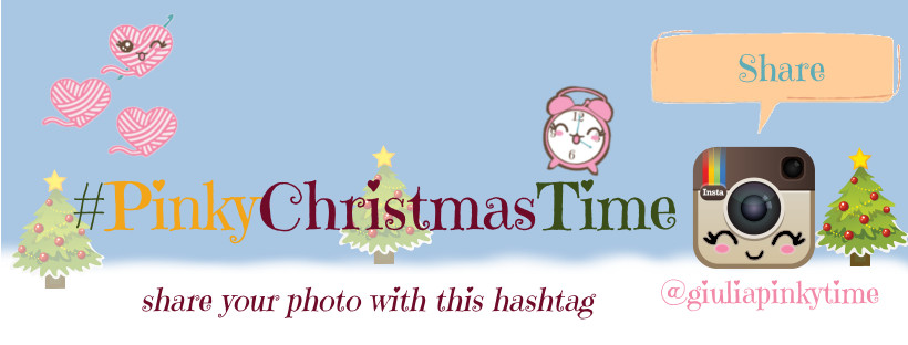 use hashtag #pinkychristmastime on Instagram and call me with @giuliapinkytime