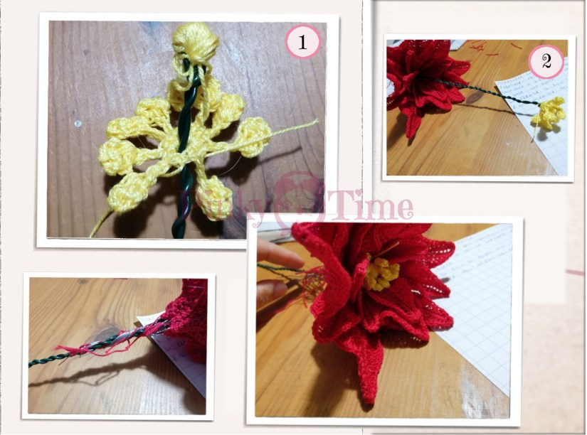 Foto tutorial assemblaggio fiore