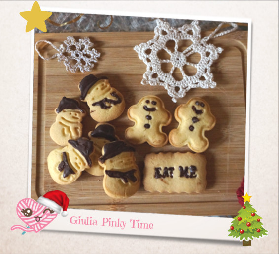 Christmas cookies without butter made at home | Giulia Pinky Time