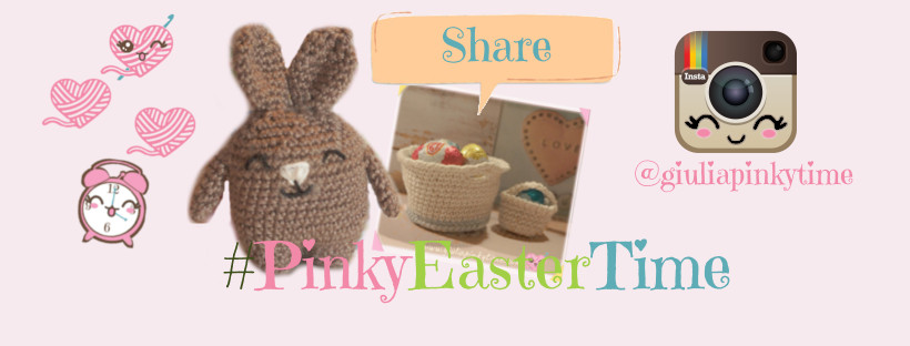 share on instagram your photo of the miniature crochet basket with #PINKYEASTERTIME
