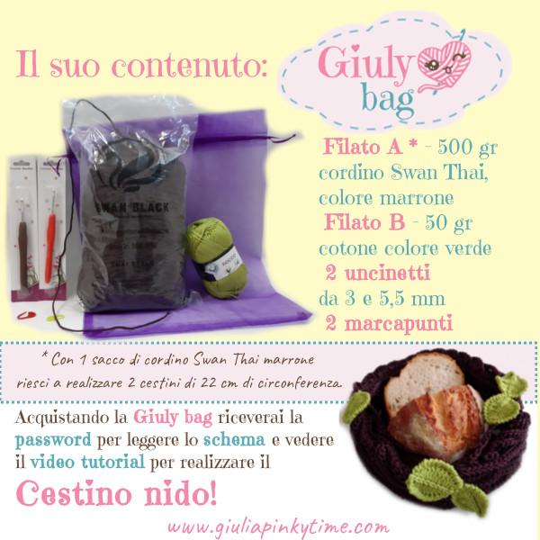 Giuly Bag cestino nido - cosa contiene