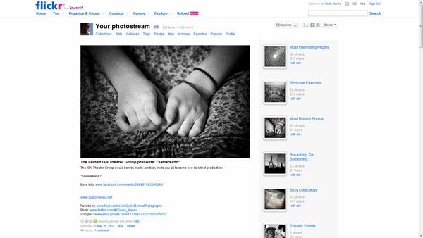 Flickr photostream 2012