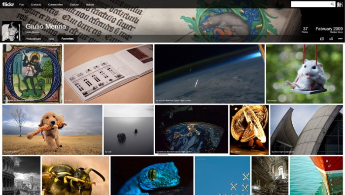 New Flickr Layout