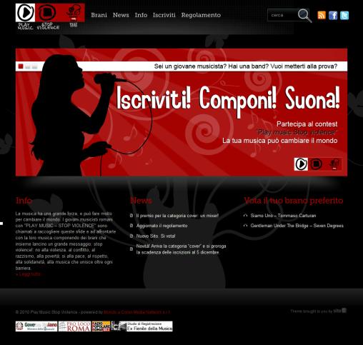 Play music Stop Violence - Concorso musicale per giovani romani_1290792793551