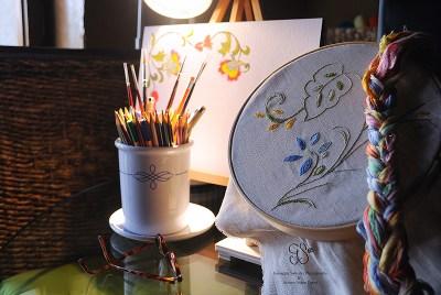 broderi, embroidery, stickerei