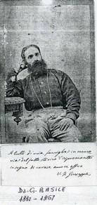 Il dottor Giuseppe Basile medico di Garibaldi, fotografia con dedica alla famiglia.