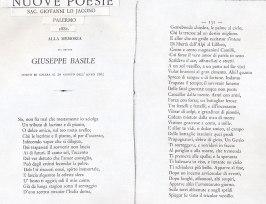 Giuseppe Basile poesia in sua memoria del sacerdote Giovanni Lojacono