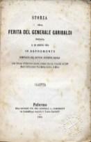 """""""Storia della ferita di Garibaldi"""" di Giuseppe Basile, frontespizio del volume originale"""