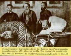 Garibaldi convalescente durante un consulto coi medici Albanesi, Ripari e Basile