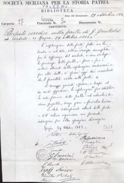 Garibaldi, referto medico della ferita