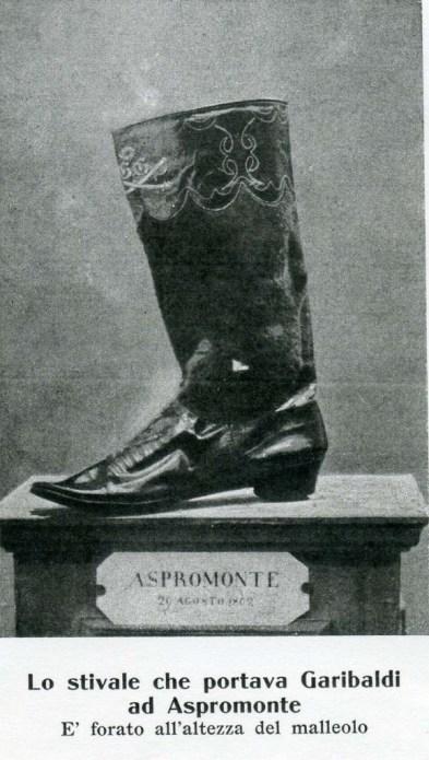 Stivale indossato dal Generale Garibaldi in Aspromonte