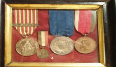 Giuseppe Basile: sue medaglie commemorative con medaglia d'argento al valor militare
