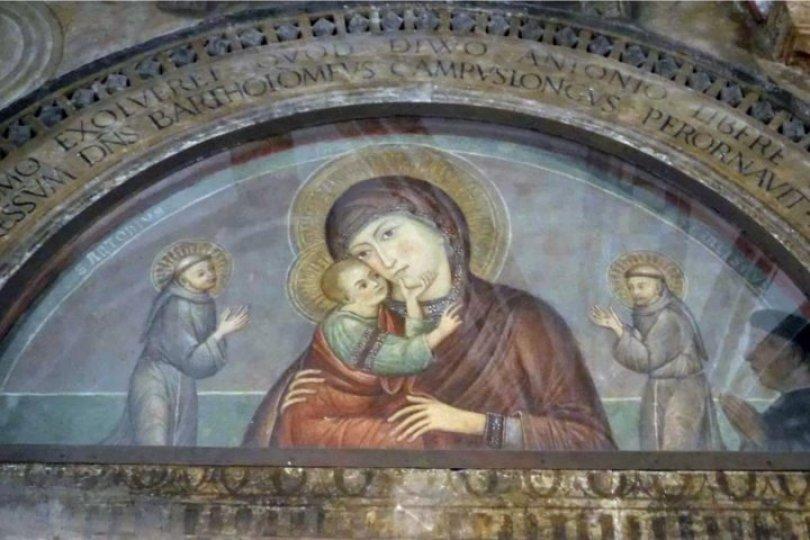 Vergine con Gesù Bambino tra S Antonio e S Francesco