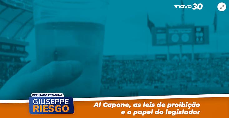 Al Capone, as leis de proibição e o papel do legislador