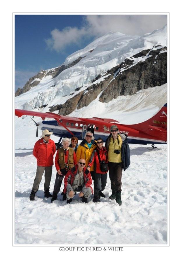 ALASKA : Sul ghiacciao del Mt. McKinley