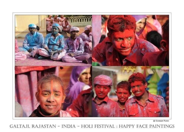 GALTAJI, RAJASTAN - INDIA HOLI FESTIVAL happy face paintings