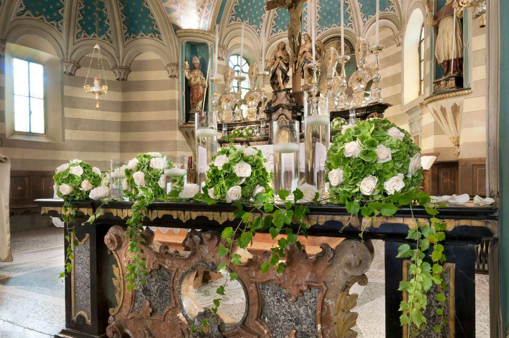 Fiorista per matrimonio in chiesa sul Lago Maggiore