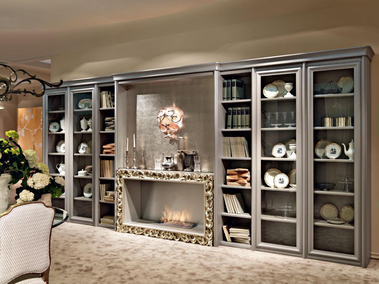 Librerie classiche per larredamento classico del soggiorno complementi di arredo classici di
