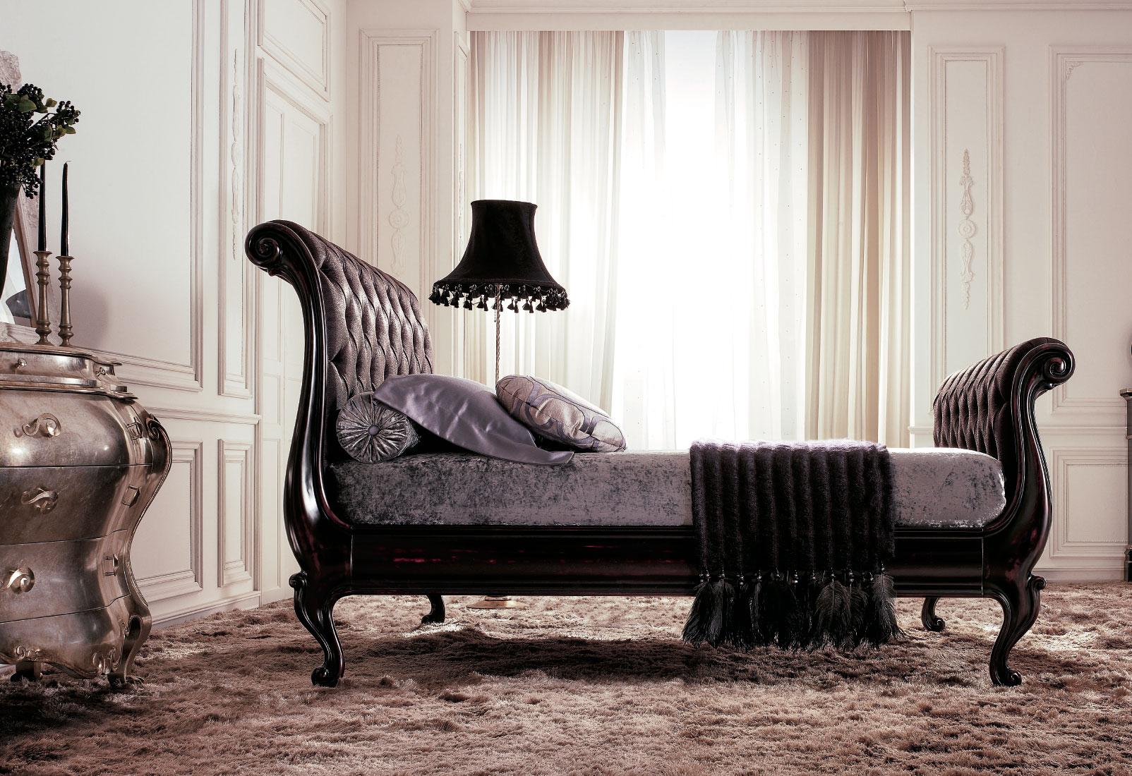 Letti in legno classici intagliati a mano per larredamento classico della camera da letto di Giusti Portos