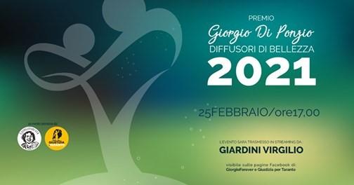 """Il 25 febbraio la II edizione del premio """"Diffusori di bellezza – Giorgio Di Ponzio"""""""