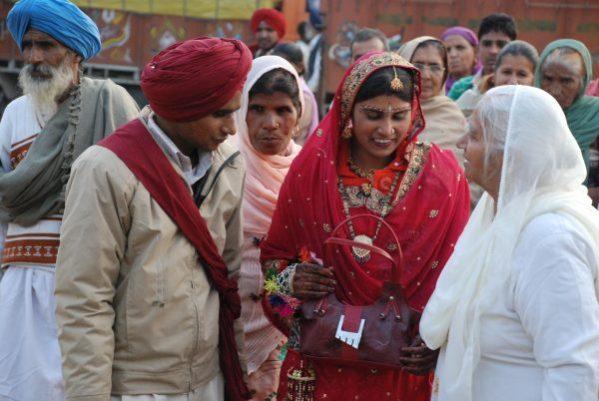 Frischvermähltes Brautpaar